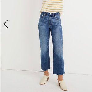 Madewell Slim Wide-Leg Jeans in Garret Wash